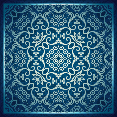Classic swirl and curves style background of pattern vintage vector illustration 矢量图像