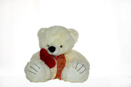 Baby soft toy like teddy bear, dolls, and animal made of soft fabric and cushion  photo