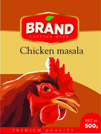 치킨 카레 masala 레이블 포장에 레이블 배경