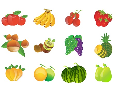 web 2 0: fruits web 2 0 icons