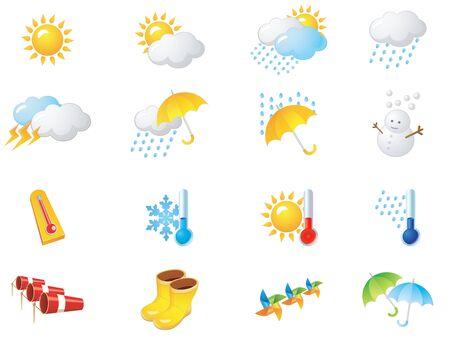 Weather web  2.0 Illustration Icons Ilustrace
