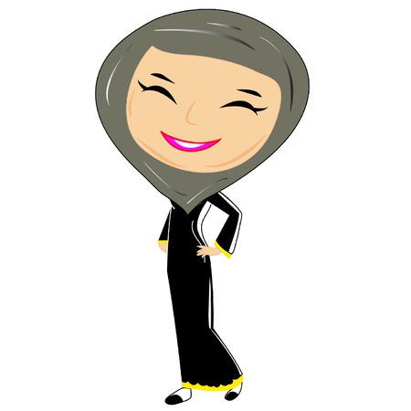 muslim hijab women islam vector Vector