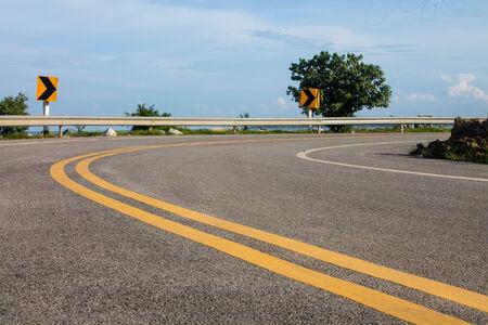 road, street, highway, sky curve, photo