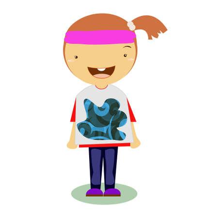 unilateral: girl vector Hair unilateral