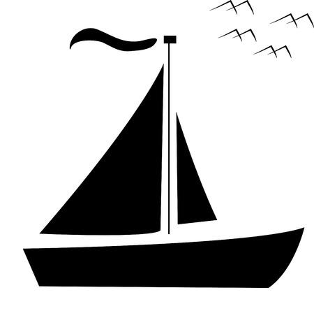 shipping; ship; vector; boat; bird photo