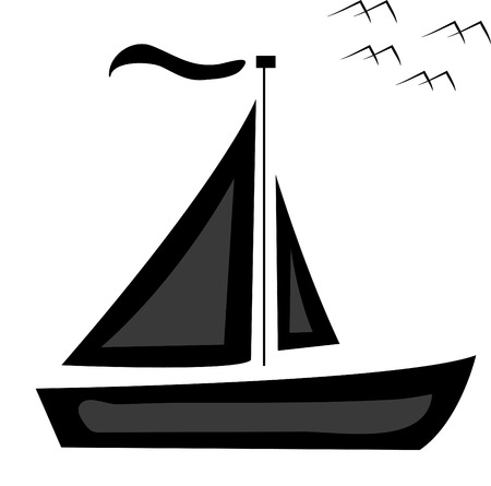 inflate boat: shipping; ship; vector; boat; bird