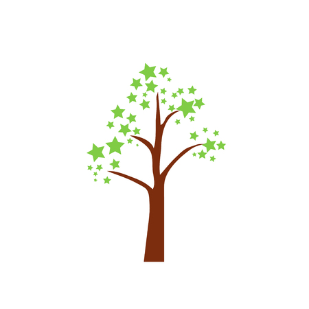 bole: tree, vector, icon, oak, trunk,