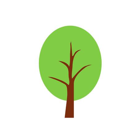 bole: tree, vector, icon, oak, natural