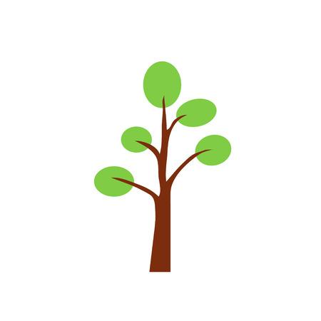 bole: tree, vector, icon, oak, green