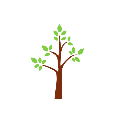 bole: tree, vector, icon, oak, trunk