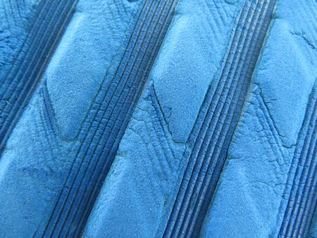 Texture wavy blue rubber closeup - Image.