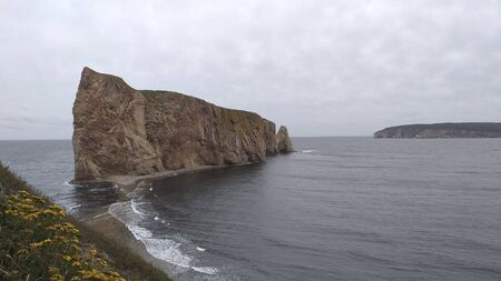 The rock of Perce in Gaspe, Quebec