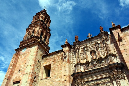 A cathedral at Zacatecas, Mexico