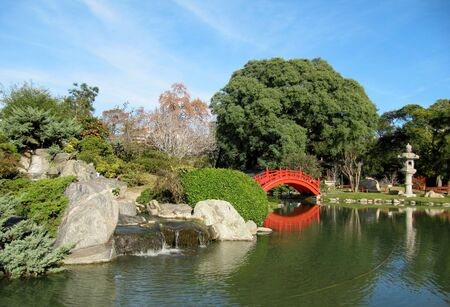 Autumn in a Japanese garden                               photo