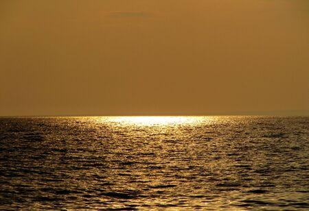 Gold Sunset, Sky and Sea                           photo