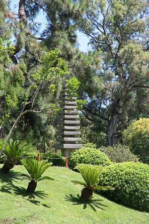 Japanese garden  Stone traditional tower   photo