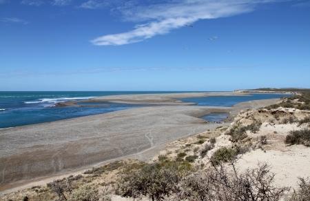 Wild landscape of Patagonia on the Atlantic coast Stock Photo - 16951605