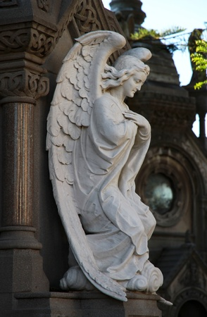 Angel  statue  on a cemetery Recoleta in Buenos Aires  Stock Photo