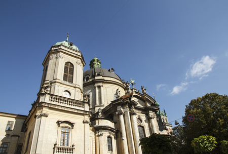 Dominican cathedral and monastery, Lviv, Ukraine. Baroque monument.