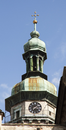 Saint Andreys churches dome in Lviv. Historical architecture. Stock Photo