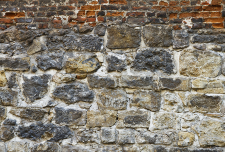 Old brick wall. Invoice, background. Stock Photo