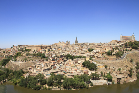 Toledo old city general view. Travel across Spain. Stock Photo