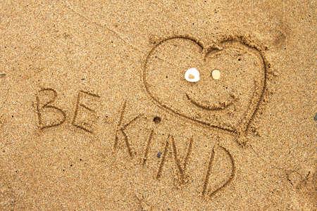 Message Be Kind! Banque d'images
