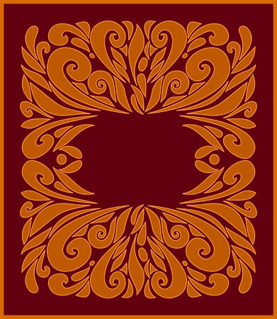 Brown frame  Stock Vector - 4462799