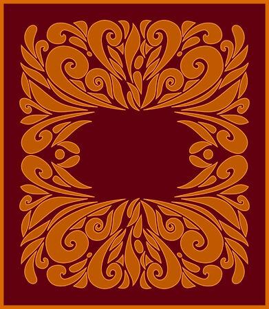 Brown frame Stock Vector - 4462799