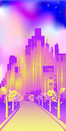 Cheerful city Vector