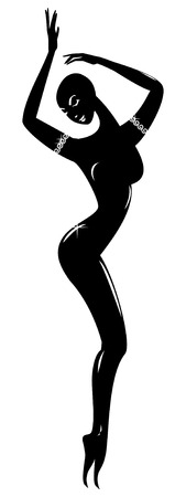 Black statuette Vector