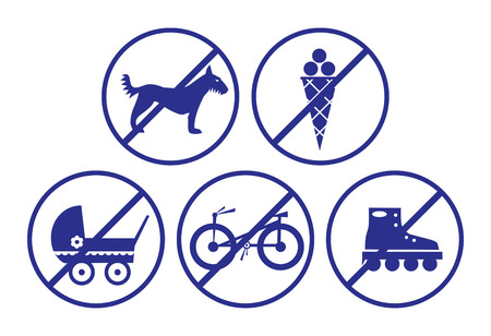 Collection of signs for shops. Vector illustration.  Vector