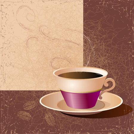 Illustrazione di una tazza di caffè. Vettore.