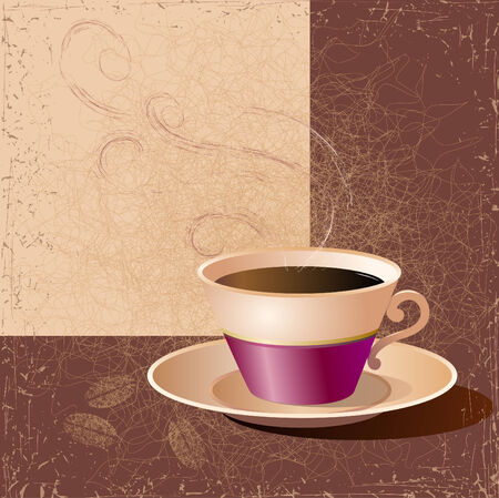 patina: Illustration of a cup of coffee. Vector.