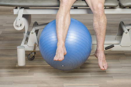 hamstrings: Patient is doing an active exercise of tight hamstrings.