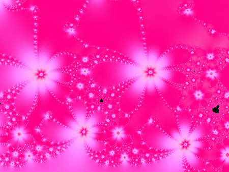 Pink and white fractal flowers  photo