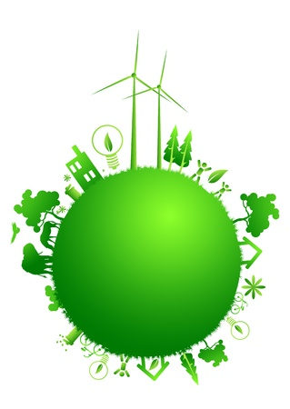 green earth illustration Vector