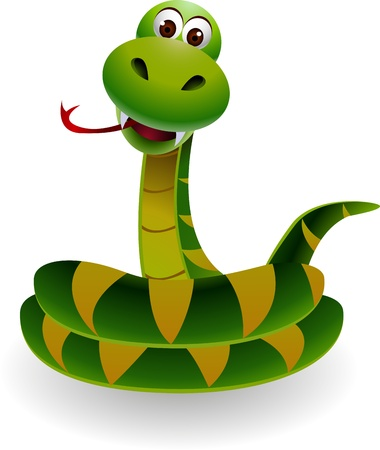 threaten: funny snake
