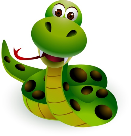 serpent noir: serpent dr�le