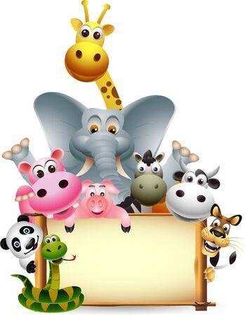 animal with banner Illustration