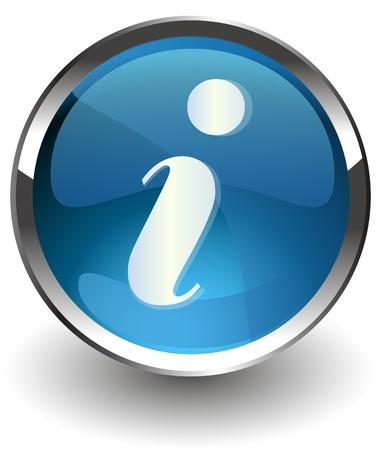 blue sphere: illustration icon