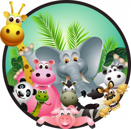 cartoon jungle: animal cartoon