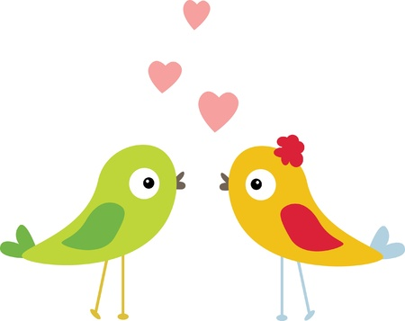 birds with love Vector
