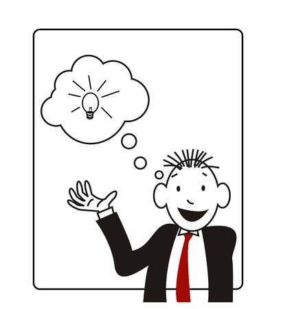 illustration of a businessman who is expressing his ideas Vector