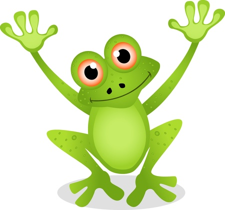 dessin animé grenouille drôle Banque d'images - 14474329