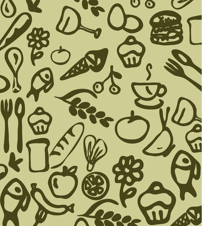 doodle food and drink,hand draw  Vector