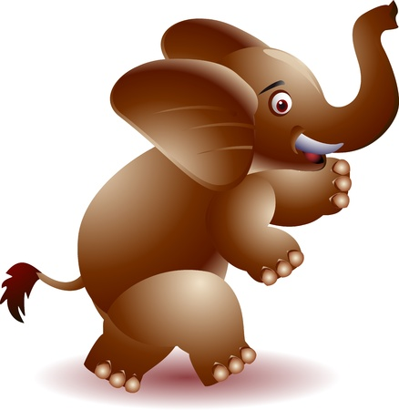 Elephant cartoon with hand waving  Stock Vector - 14474392