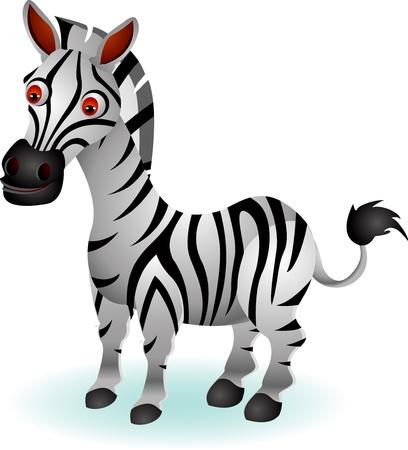 ungulate: funny zebra cartoon Illustration
