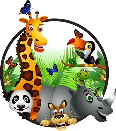 Wild African animal cartoon Vector