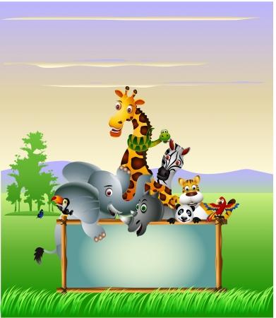 Dibujos de animales salvajes de África Ilustración de vector
